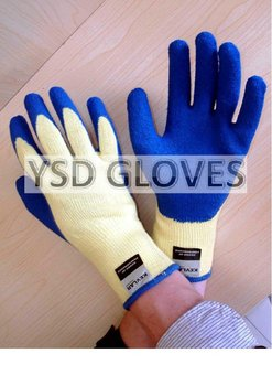 Cut Resistant Latex Dipped Safety Gloves