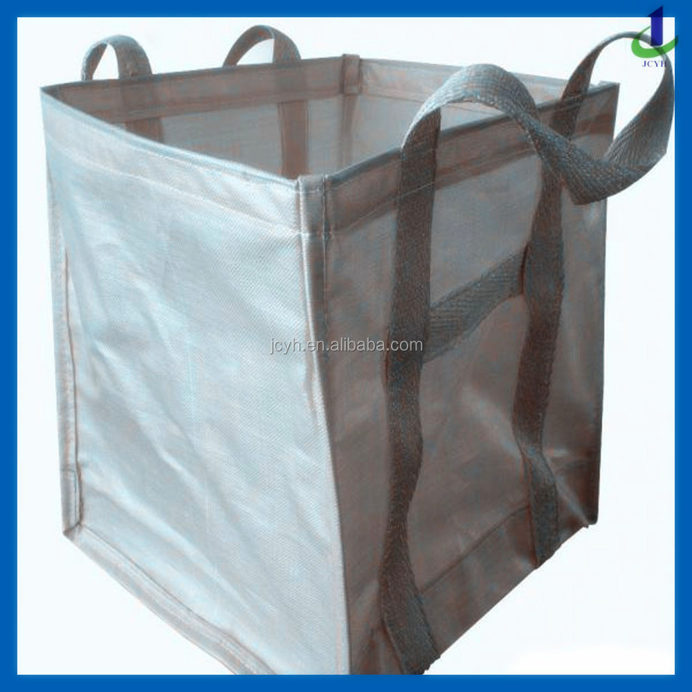 Top Open Bottom Flat fibc,1000kg PP big packing ton bag/super sacks/2000kg flexible container bag/cement&sand pp bulk bag