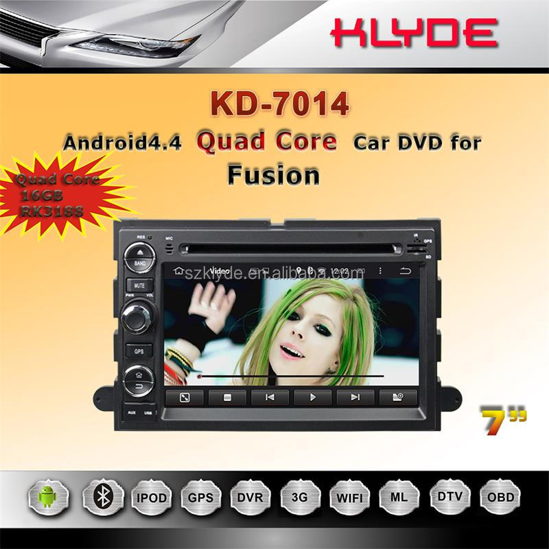 GPS+DVD+RADIO+USB/SD + A/V In/out/7 inch Android touch screen car dvd for ford fusion