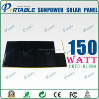 dual output sunpower solar cell scrap for mobile phone and 12V car battery