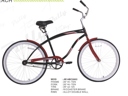 China Custom 26 Inch Chopper Bicycle Beach Cruiser Bike single speed Beach cruiser bike