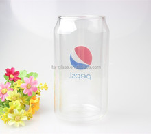 500ml color decal personalized glass beer mug/novelty double wall glass beer mugs for sale