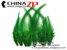 Top Supplier ZPDECOR Wholesale Good Quality Colored Green Chicken Rooster Saddle Feathers for Sale
