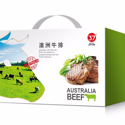 Fried steak beef food portable outer snack packing cartons