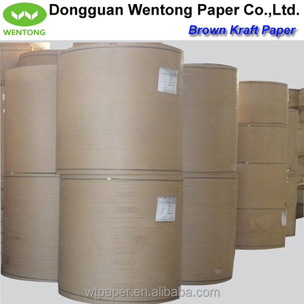 80gsm recycled wrapping brown kraft paper roll for Brown craft paper rolls