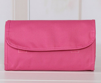 Travel series 100% polyester fold up cosmetic bag, make up bag, travel bag