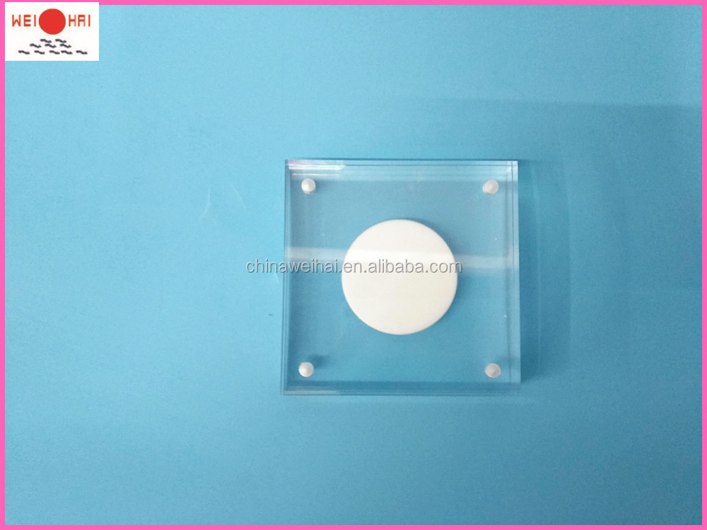 Fashionable Magnetic Clear Acrylic Coin Display Acrylic Block