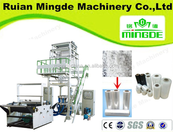 MINGDE---PE----LDPE,LLDPE,HDPE,DOUBLE-LAYER CO-EXTRUSION ROTARY DIE FILM BLOWING MACHINE SET,MD-2L1200,MD-2L1500,MD-2L2000