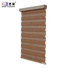 Fashionable stocked double layer fabric roller zebra blinds for home decor with cheap price