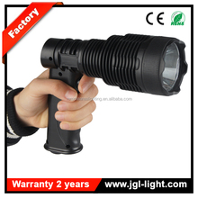 Long working time 810lm battery operated handheld flashlight JG-T61-600 CREE 10W rechargeable led outdoor searching flashlight