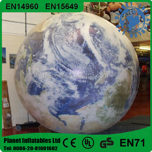 Best Selling Advertising Inflatable Earth Globe Balloon For Promotion
