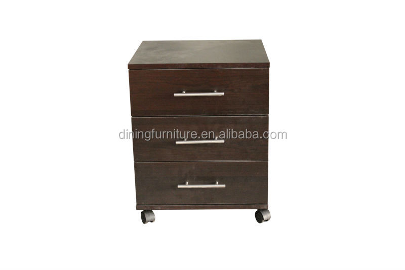 3drawers bedside table with wheels