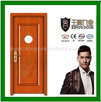high quality inner bedroom wooden swing single leaf pvc door