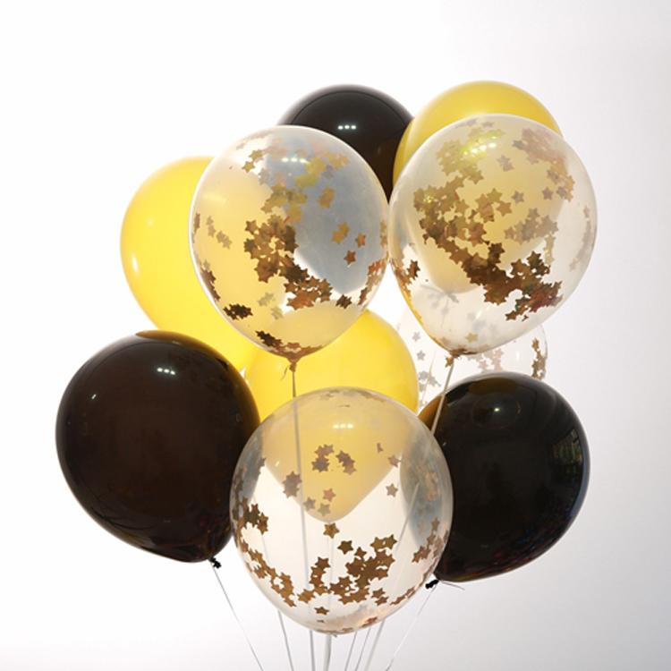 O logotipo personalizado impresso Confetti Ouro Balão Para Festa de Aniversário do bebê do chuveiro Do Casamento Do Natal Dia Das Bruxas