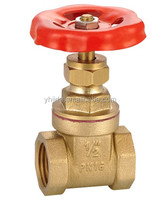 forge brass gate valve with gray cast iron wheel JD-A2001