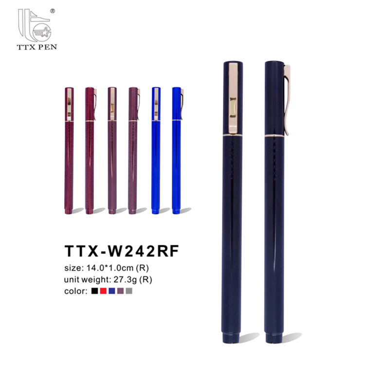 Fashional Colored Metal Ink Ballpoint Set Slogan Promotional Ball Pen