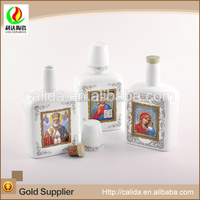 Customized size eco-friendly porcelain ceramic lady decal essential oil bottle