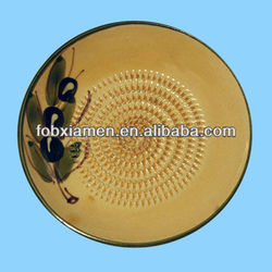 Wholesale Ceramic Garlic And Ginger Grater Mased Plate