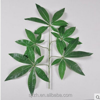 Good moral wholesale evergreen pachira macrocarpa artificial branch and leaf for sale