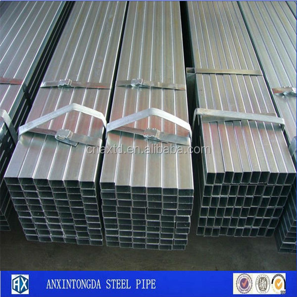 Red hot tube galvanized welded steel rectangular tube for piezoelectric material