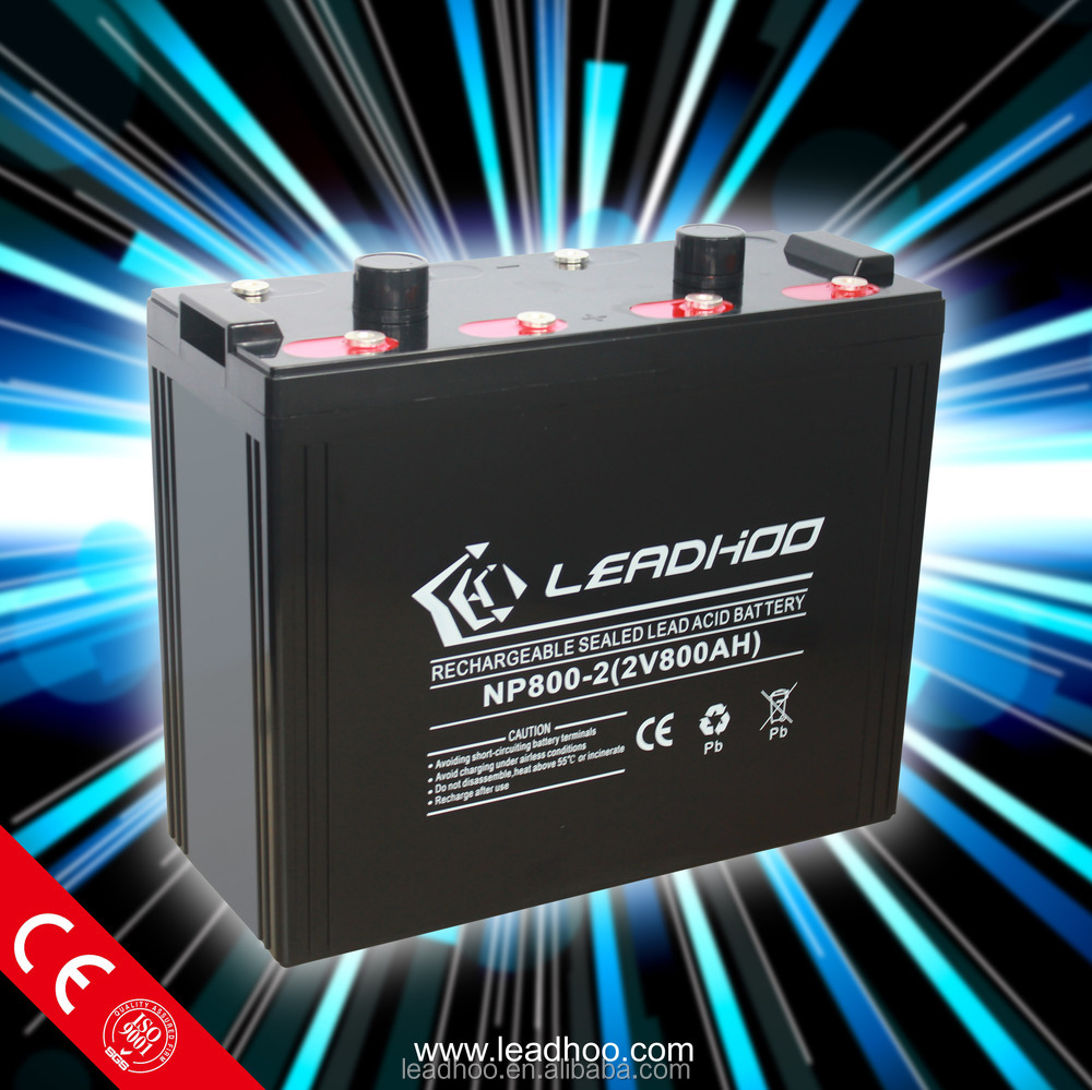 AGM Lead acid Rechargeable UPS Inverter battery for Power Station 2V800AH