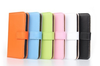 Genuine Leather Pouch Wallet for iPhone 5c Leather Case