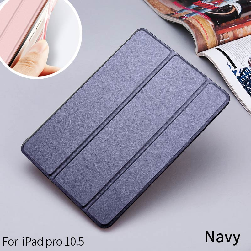 Soft Edge Good Quality Folding Powerful PU Leather Case For ipad Pro 10.5