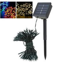 solar led string 12M 100LEDs Waterproof Outdoor Christmas light