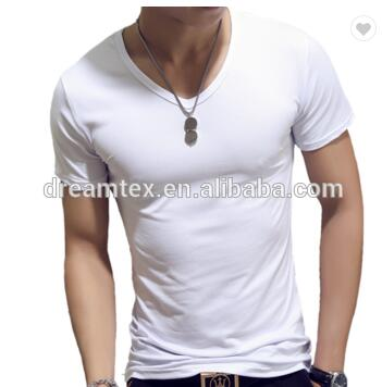 2020 Wholesale 65%cotton 35%polyester Custom oem Men's t shirt blank Plain t shirts