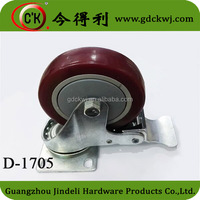 Sample Free Hardware Hospital Trolley Swivel Wheels Caster With Brake