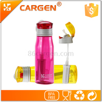 OEM logo 530ml plastic straw carbon alkaline water bottle