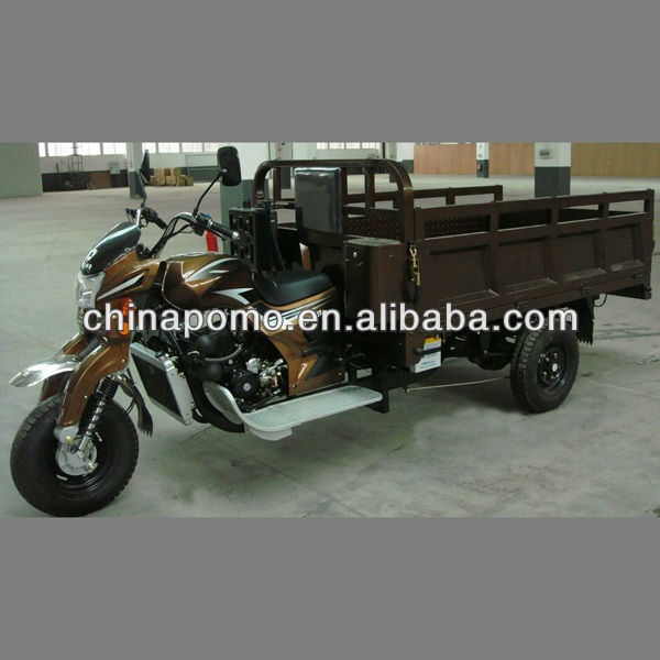 Alibaba 2013 golden three wheel motorcycle powered by full water cooling 200CC egnine