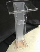 Acrylic PMMA church pulpit rostrum for school customized size available