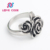 Wholesale titanium silver 316l stainless steel rings