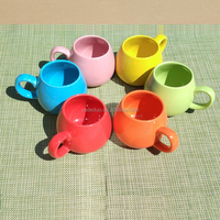 Customized ceramic colored glaze coffee mug with lid porcelain round shape milk tea cup with handle spoon