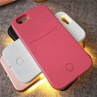 2016 amazing products selfie led light cell phone case for iphone