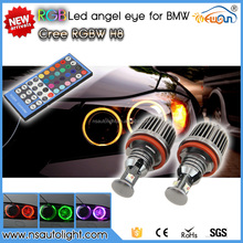 Newsun new design Remote control 10W RGB color changing auto led angel eyes for bmw e60 528i, 528xi, 535i, 535xi, 550i