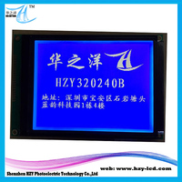 Graphic 320 By 240 LCM Lattice Spacing 0.36 By 0.36 mm White On Blue LCD Modules