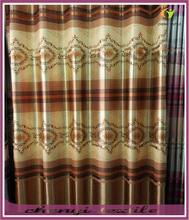 Wholesale customized Printed Stripe half- blackout window curtain