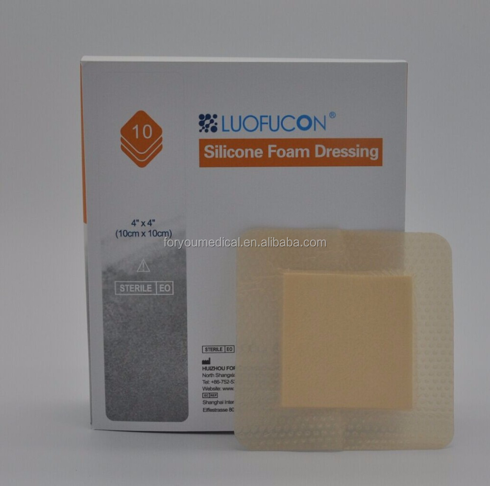 "2016 Top quality Border Lite Silicone Foam Dressing (1.6x2"""")/ Similar to Mepilex"