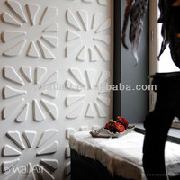 2016 3d bamboo fibre interior decor wall panel embossed
