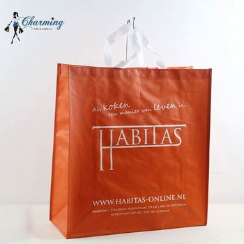 Hot sale super quality orange red china pp woven laminated bags