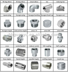 stainless steel 304 316 threaded casting fittings, with BSP/NPT/DIN299/ISO228 thread