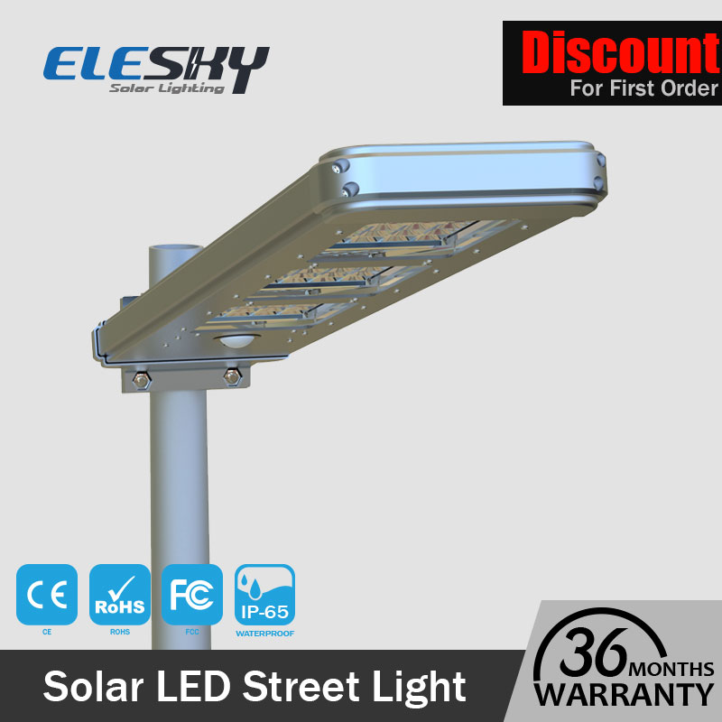 OEM/ODM Aluminum Body and 30w Street Lights Die Cast Aluminum new products integrated solar street light CE FCC ROHS certified