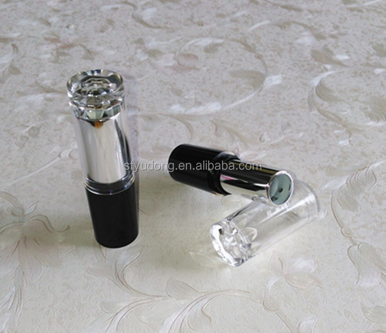 LS0272 OEM Wholesale round ABS PS makeup DIAMONDS pattern lid lipstick <strong>tube</strong>
