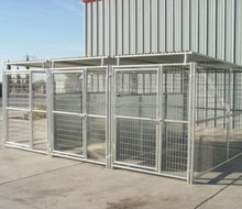 5'x10'x6' 3 runs dog kennels collapsible dog cages metal galvanized dog run fence panels