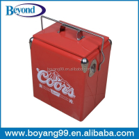 Retro beer cooler vintage metal ice cooler