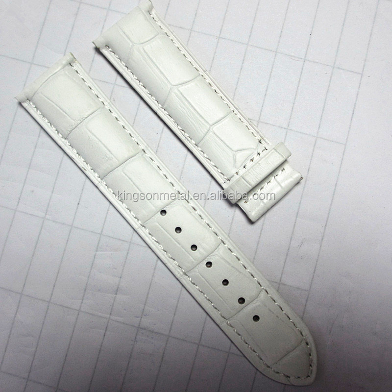 Fashionable wrist watch leather bands white china factory cheap