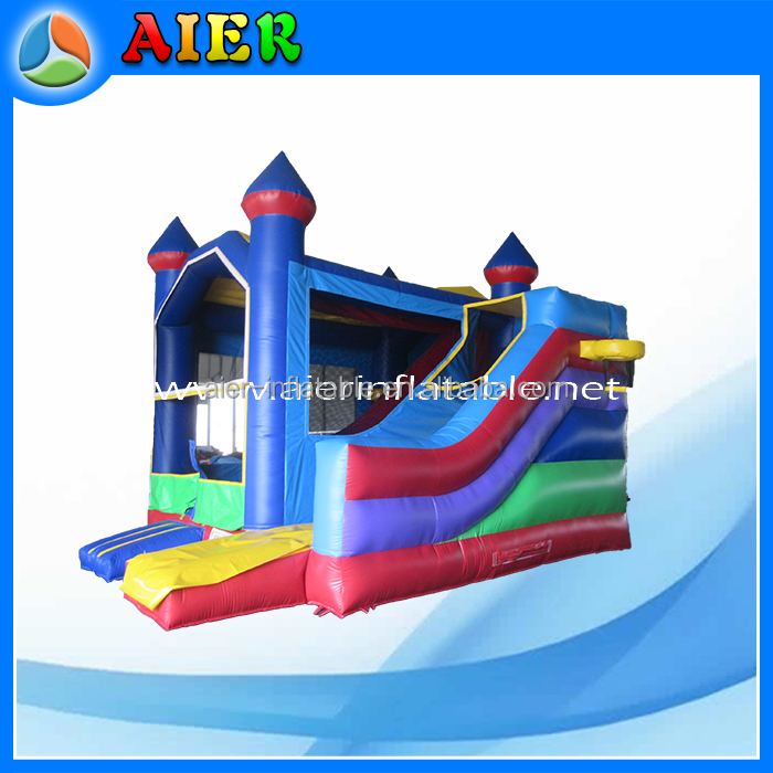 New 16ft inflatable jumping castle with removable banners slide for sale