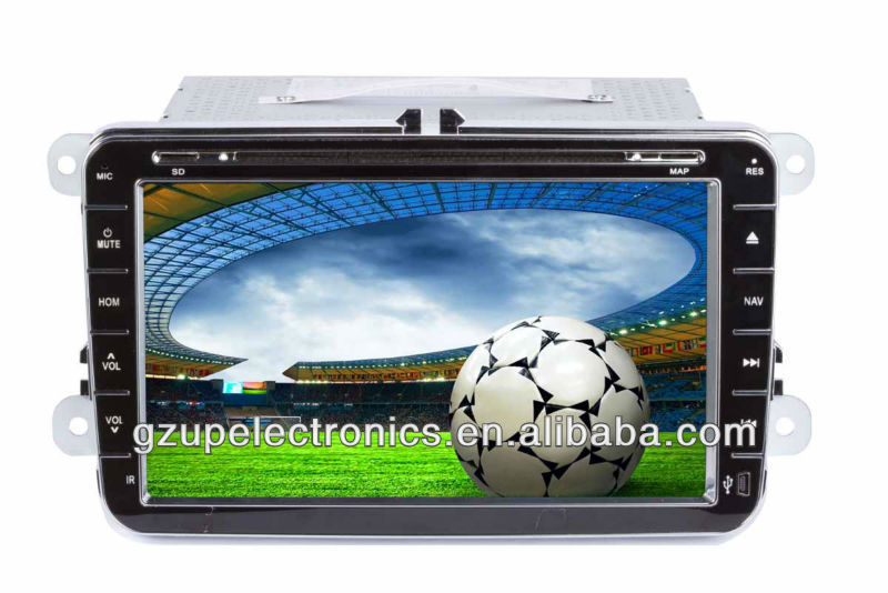 all functions 8.0 inch double din special car audio and video for VW caddy 2007 with GPS BT TV steering wheel control